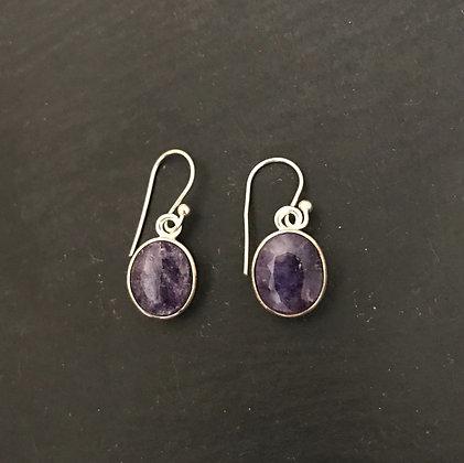 Sapphire Oval Earrings