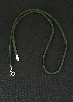 Dark Green Suede Cord