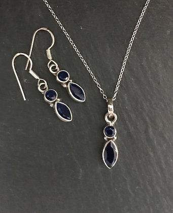 Two Stone Sapphire Set