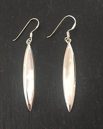 Mother of Pearl Long Kite Earrings