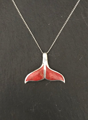 Whale Tail Coral Pendant