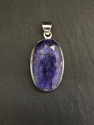 Oval Sapphire Pendant