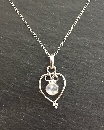 Moonstone Heart Pendant