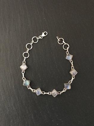 Square Moonstone Bracelet