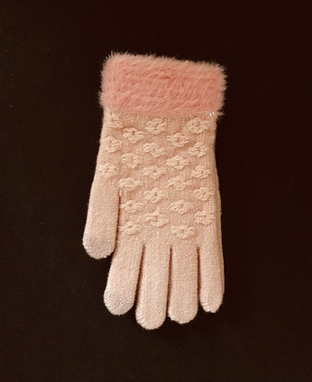 Fluffy Design Gloves