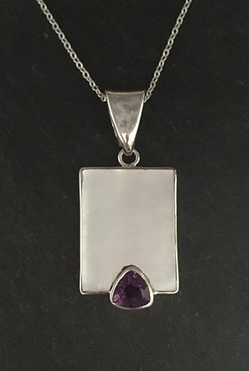 Amethyst and Mother of Pearl Pendant