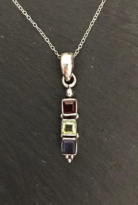Garnet and Mixed Stone Pendant