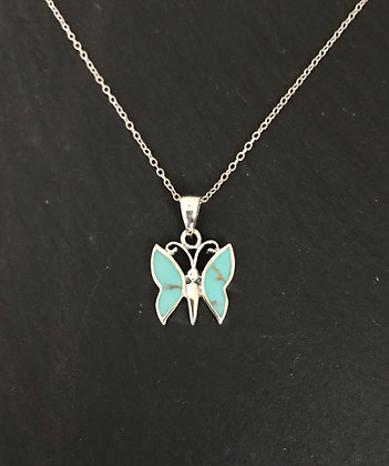 Turquoise Butterfly Pendant