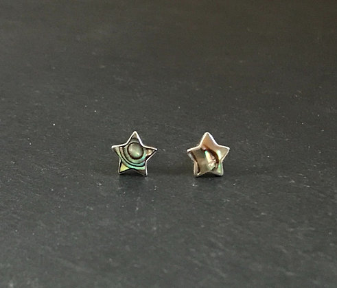 Paua Shell Star Studs