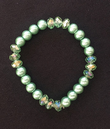 Single Row Coloured Bead Bracelet