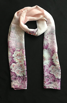 Pink and Purple Flower Scarf