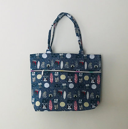 Blue Owl  Material Shoulder Bag