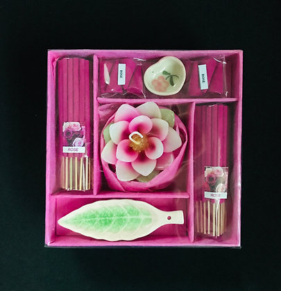 Pink Incense Set