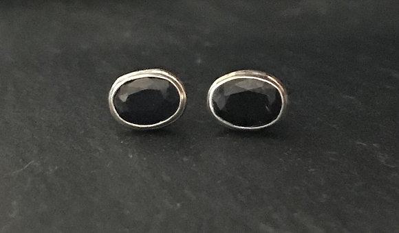 Oval Sapphire Stud Earrings