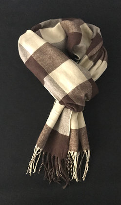 Beige and Brown Scarf