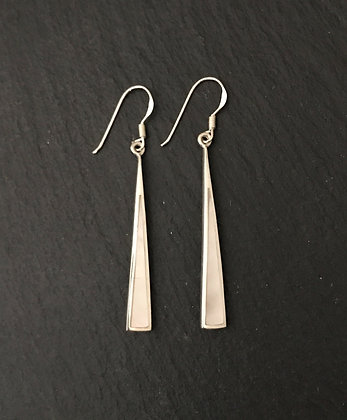 Mother of Pearl Long Triangle Earrings