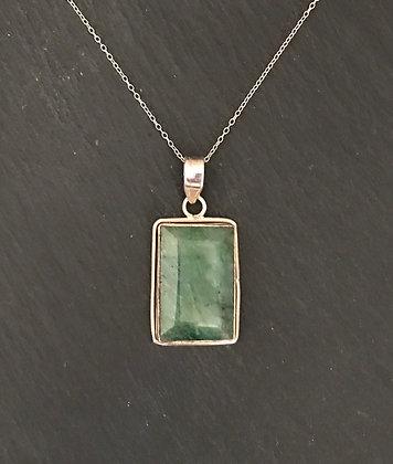 Rectangle Emerald Pendant