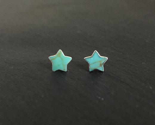 Star Turquoise Stud Earrings