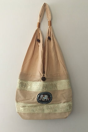 Cream Elephant Bag