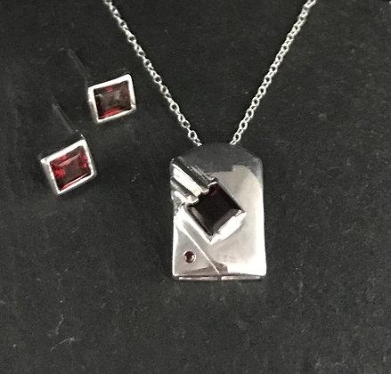 Garnet and Silver Set