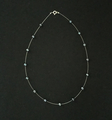 Dark Blue Pearl Necklace