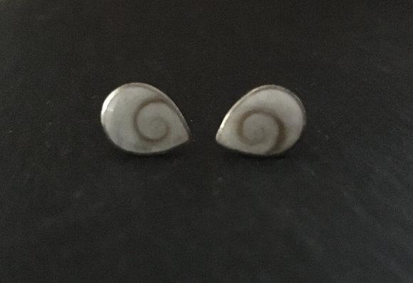 Shiva Shell Teardrop Stud Earrings