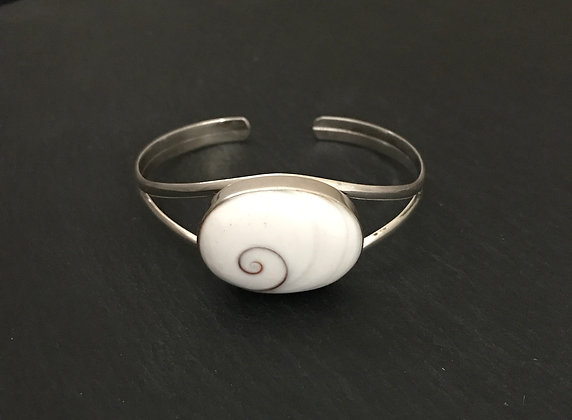Shiva Shell and Silver Bangle