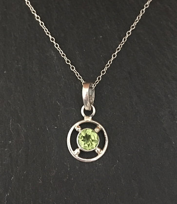 Peridot and Silver Pendant