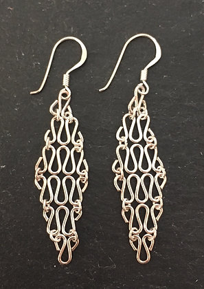 Chainmail-Style Drop Earrings