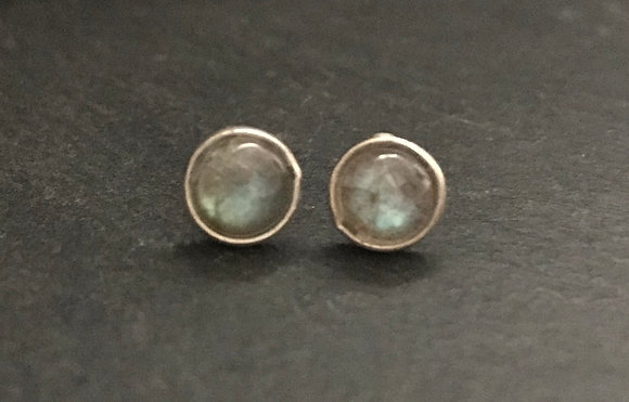 Labradorite Round Stud Earrings