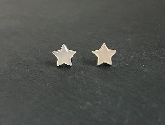 Mother of Pearl Star Stud Earrings