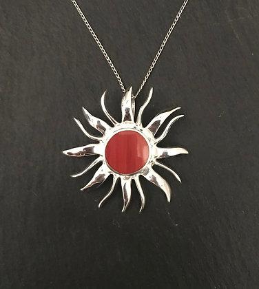 Sun Coral Pendant