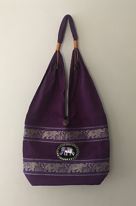 Dark Purple Elephant Bag
