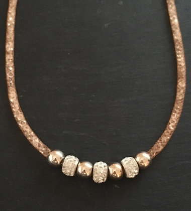 Peach Bling Necklace