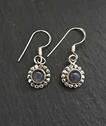 Labradorite Round Earrings