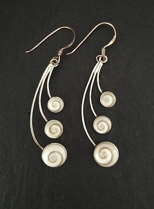 Shiva Shell Oval Drop Earrings