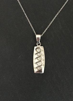 Shiva Shell and Silver Rectangle Pendant