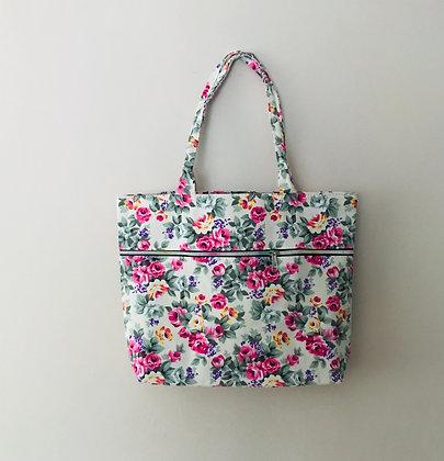 Cream Material Shoulder Bag