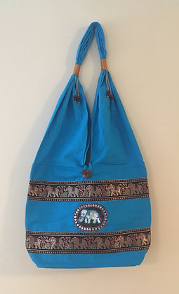 Light Blue Elephant Bag