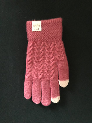Cat Knit Design Gloves