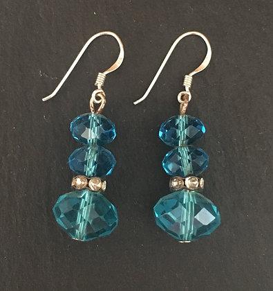Bead and Bling Drop Earrings