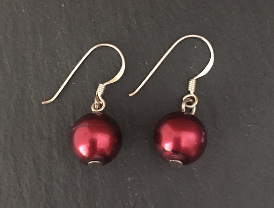 Red Bead Earrings