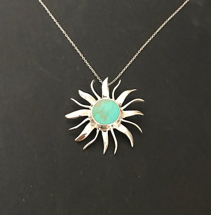 Turquoise Sun Pendant