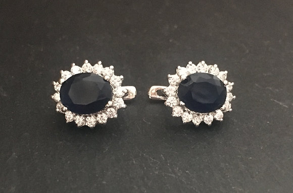Sapphire and Cubic Zirconia Studs