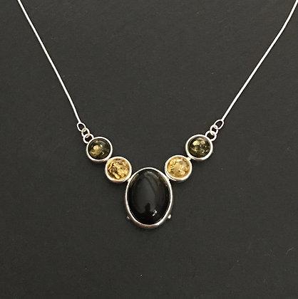 Tri-Colour Amber Necklace