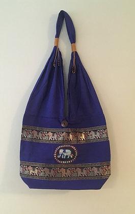 Dark Blue Elephant Bag