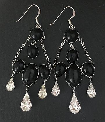 Black and Bling Earrings