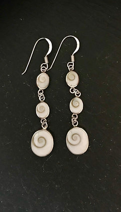 Shiva Shell and Silver Earrings