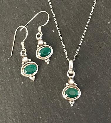 Oval Emerald Set