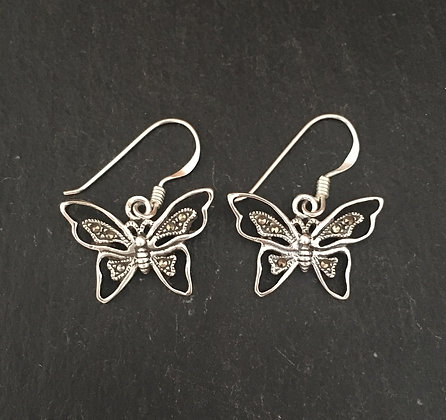 Marcasite Butterfly Earrings